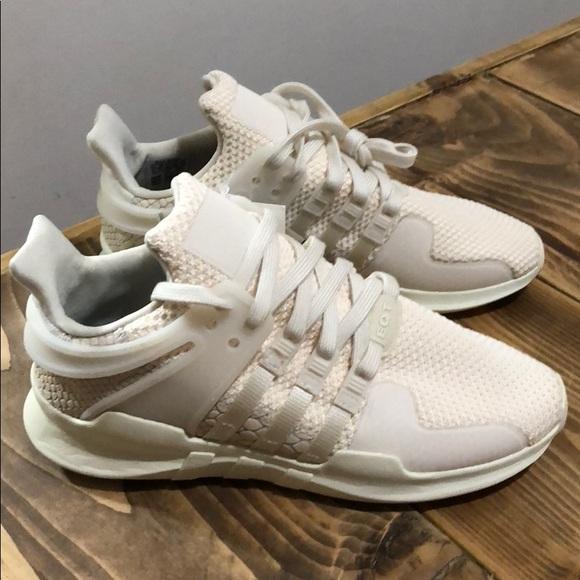 online retailer a5955 a5dba Womens Adidas EQT ADV 91-16 Creme Sneakers